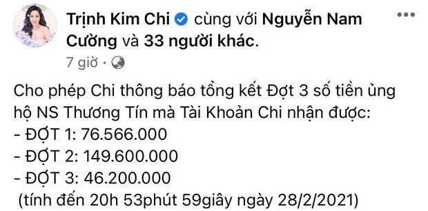 NS Trịnh Kim Chi công bố kêu gọi hơn 270 triệu đồng để giúp đỡ NS Thương Tín, con gái đã đến thăm bố ở bệnh viện - Ảnh 2.