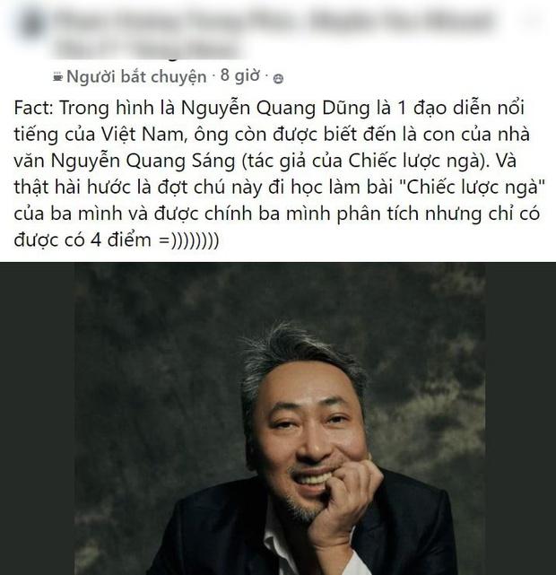 Bố là nhà văn Nguyễn Quang Sáng nhưng vẫn bị 4 điểm bài phân tích tác phẩm của bố, đạo diễn Nguyễn Quang Dũng nói gì? - Ảnh 2.