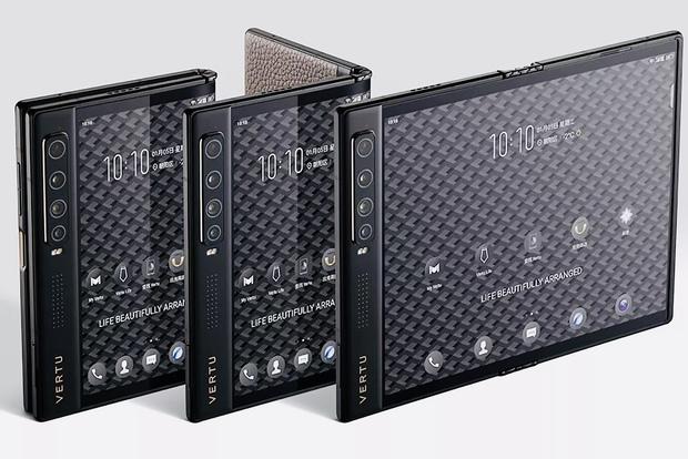 Vertu ra mắt điện thoại thông minh màn hình gập Ayxta Fold, nhìn mà xót hết cả ví - Ảnh 1.