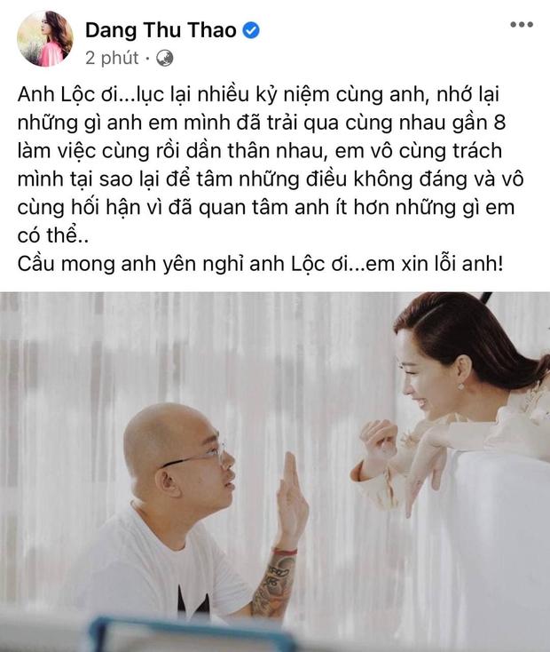 Hay tin phù thuỷ trang điểm Minh Lộc qua đời, Đông Nhi - Đặng Thu Thảo bỗng đăng status Em xin lỗi - Ảnh 3.