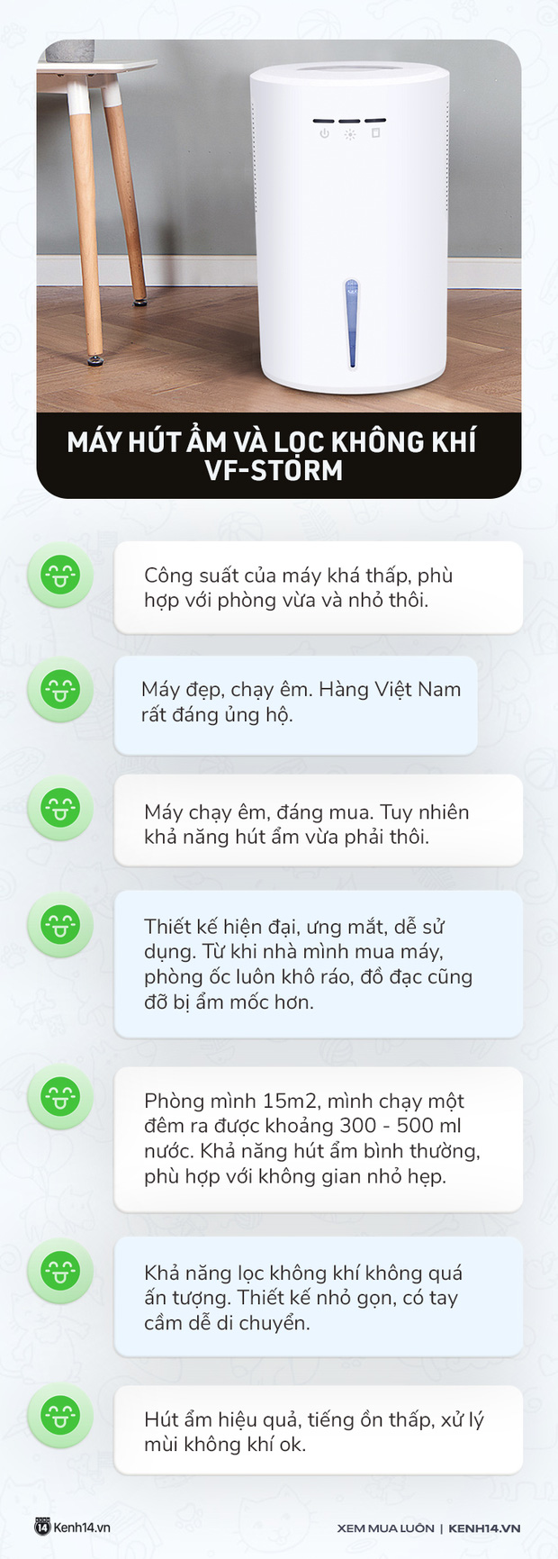Máy hút ẩm made in Vietnam giá chưa đến 2 triệu: Đẹp, ít ồn nhưng chỉ hợp với phòng nhỏ - Ảnh 6.