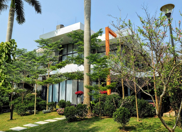 Gia đình doanh nhân Hà Nội xây căn villa 400m2 ở Flamingo - Đại Lải làm nơi nghỉ dưỡng dịp cuối tuần - Ảnh 1.