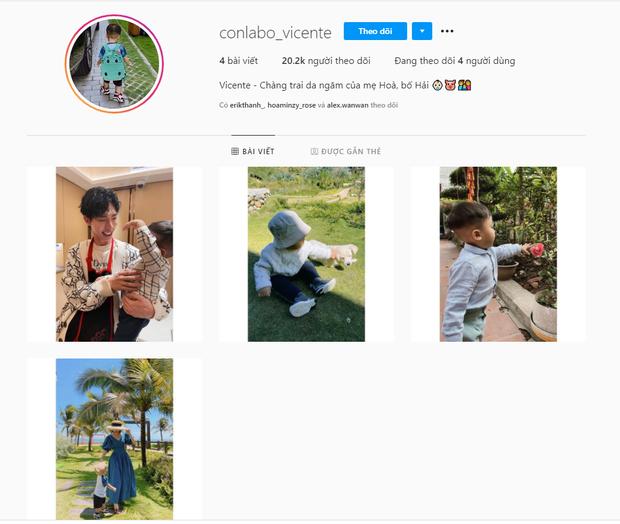 Instagram con trai Hoà Minzy chỉ follow 4 người, có cả Erik và Đức Phúc nhưng nhân vật đặc biệt này thì lại bị quên lãng - Ảnh 2.