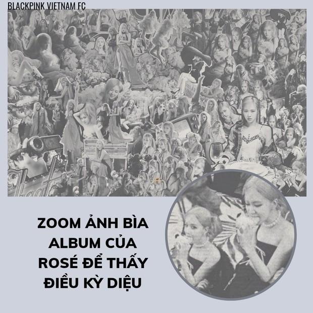 """Fan soi ra một chi tiết cười xỉu trên bìa album mới của Rosé: """"Sao YG dìm chị thế này?"""" - Ảnh 2."""