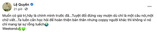 Nghi vấn Lệ Quyên đá xéo Hồ Ngọc Hà, chê bạn cũ rỗng tuếch vì phát ngôn gây tranh cãi về phim của Trấn Thành - Ảnh 2.