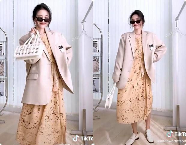 8 set đồ với blazer mà nàng nào cũng có thể ứng dụng từ hotgirl TikTok xứ Trung - Ảnh 1.