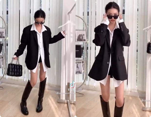 8 set đồ với blazer mà nàng nào cũng có thể ứng dụng từ hotgirl TikTok xứ Trung - Ảnh 2.