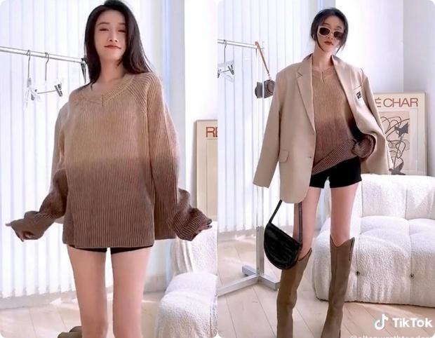 8 set đồ với blazer mà nàng nào cũng có thể ứng dụng từ hotgirl TikTok xứ Trung - Ảnh 5.