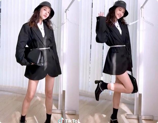 8 set đồ với blazer mà nàng nào cũng có thể ứng dụng từ hotgirl TikTok xứ Trung - Ảnh 6.