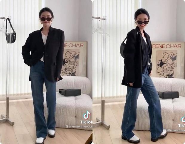 8 set đồ với blazer mà nàng nào cũng có thể ứng dụng từ hotgirl TikTok xứ Trung - Ảnh 7.