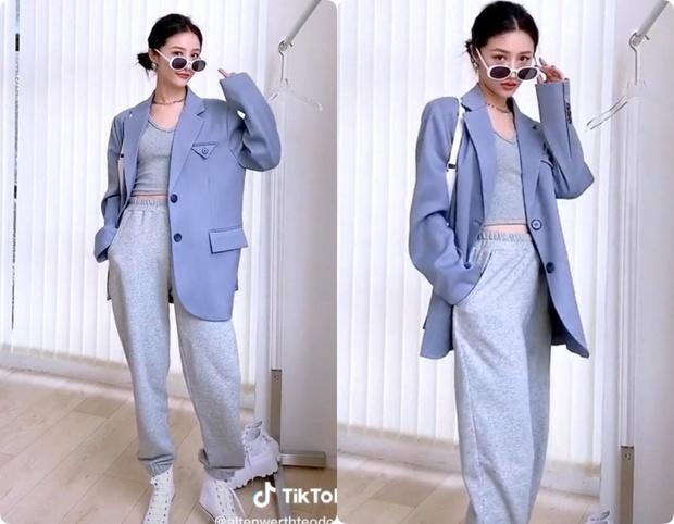 8 set đồ với blazer mà nàng nào cũng có thể ứng dụng từ hotgirl TikTok xứ Trung - Ảnh 8.