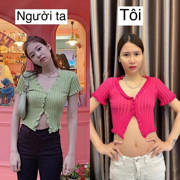 Mua áo giống Jennie (BLACKPINK) về mặc, Thanh Trần nhận trái đắng vì một điểm khác biệt - Ảnh 1.