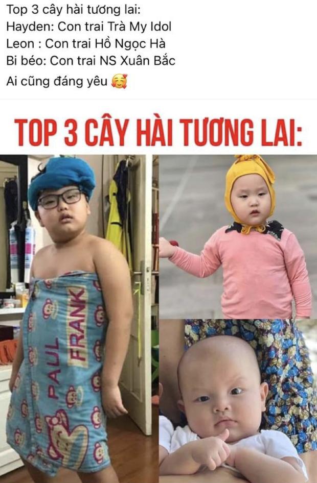 Netizen tìm ra top 3 mầm non giải trí hot nhất Vbiz: Bi Béo nhà Xuân Bắc No.1, quý tử của Kim Lý, Trà My được gọi tên vì sao? - Ảnh 2.