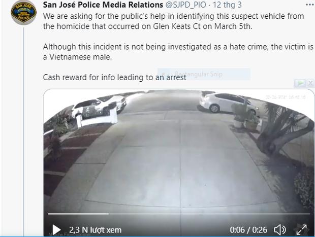 Rúng động: Người đàn ông gốc Việt tại Mỹ bị bắn chết ngay trước mắt con trai, cảnh sát công bố video hiện trường nhằm tìm ra nghi phạm - Ảnh 2.
