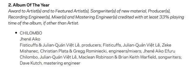 Một nghệ sĩ Việt có tên trong danh sách đề cử big four của Grammy 2021, chung mâm với ekip của Taylor Swift và Dua Lipa? - Ảnh 3.