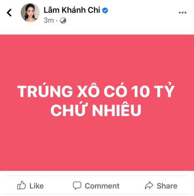 """Lâm Khánh Chi tuyên bố """"trúng xô"""" 10 tỷ đồng, 1 phút sau gây hoang mang vì vội xoá đi! - Ảnh 2."""