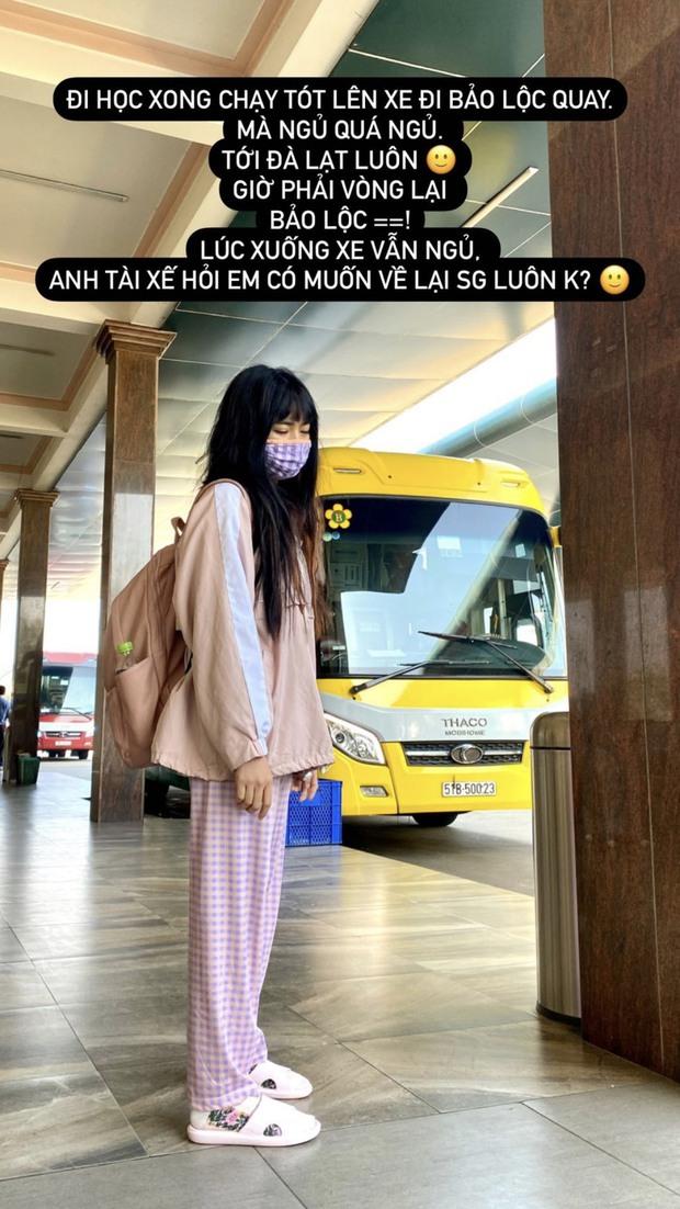 Khánh Vân bị chụp trộm lúc học vẫn quá ư là xinh, nhưng xem đến bộ dạng bết bát lúc sau mà xót hộ - Ảnh 2.