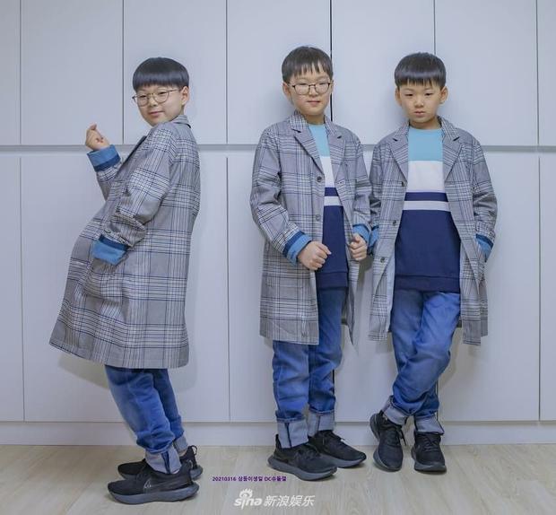 Ảnh sinh nhật 9 tuổi của Daehan - Manse - Minguk gây bất ngờ: Ba hoàng tử bé khoe chân siêu dài, visual khác hẳn ngày trước - Ảnh 7.
