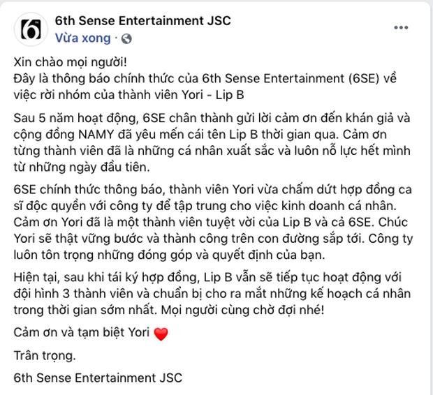 Sau 1 ngày, công ty Đông Nhi - Ông Cao Thắng chính thức lên tiếng và tiết lộ lý do thành viên nữ rời nhóm  - Ảnh 4.