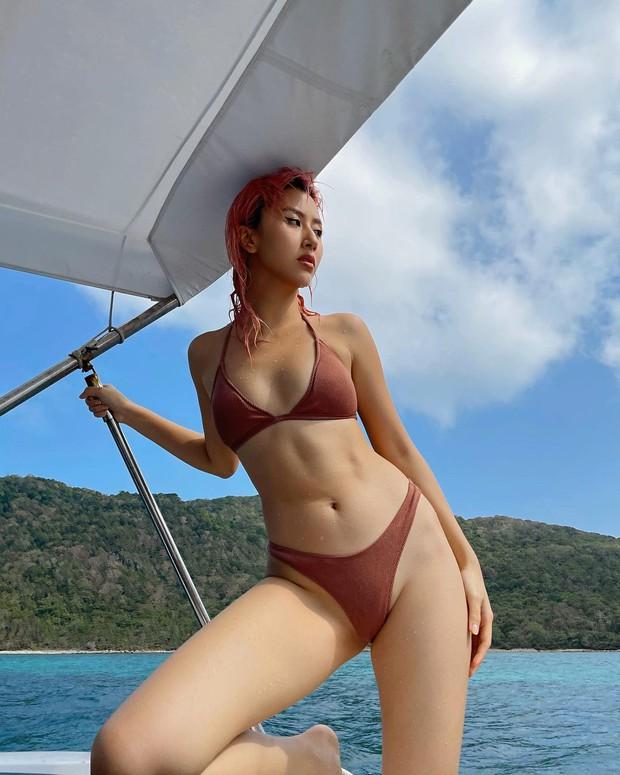 Quỳnh Anh Shyn thay hẳn 2 bộ bước vào đại chiến bikini nhưng pose hơi cồng kềnh và đau lưng thì phải - Ảnh 17.