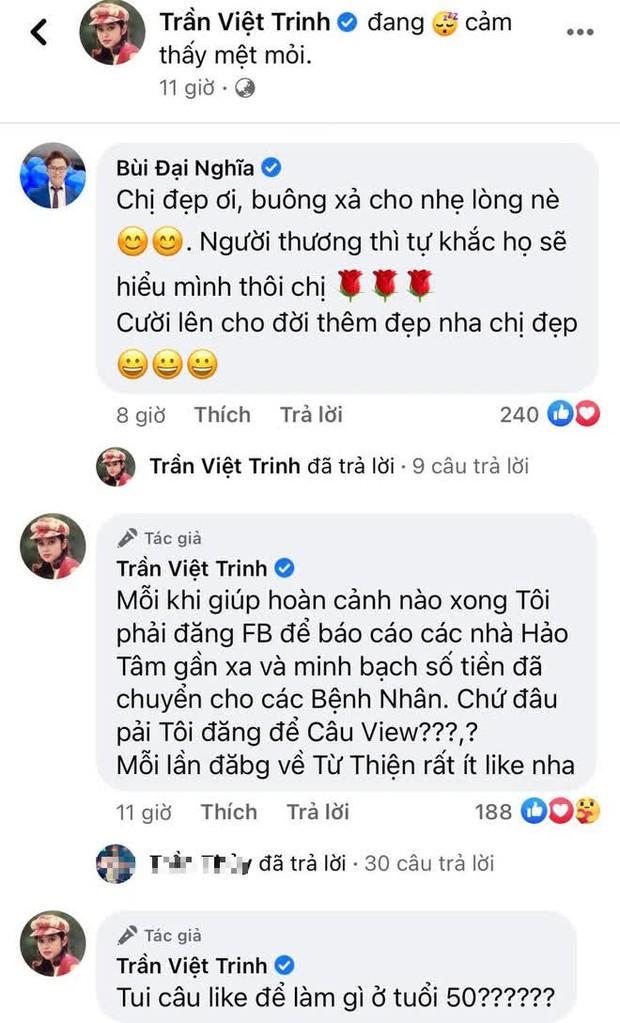 Bị mỉa mai livestream bán hàng gây quỹ từ thiện để câu view, NS Việt Trinh đáp trả cực gắt - Ảnh 3.