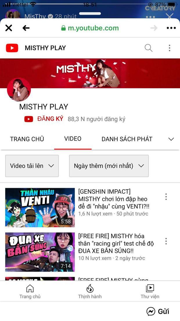 Nghi vấn kênh YouTube 6 triệu subscriber của MisThy bay màu, chính chủ đã lập kênh mới? - Ảnh 4.