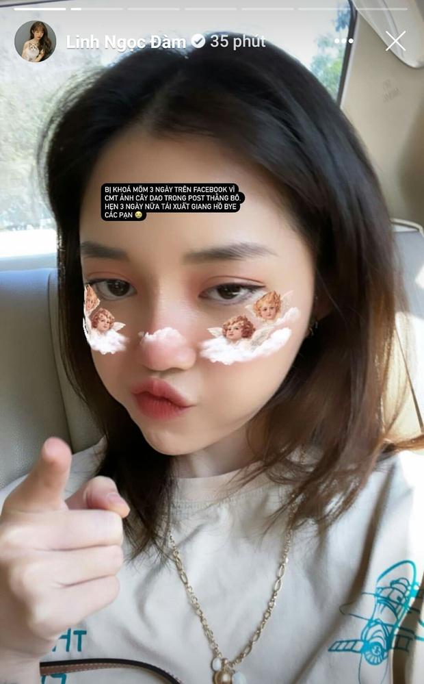 Linh Ngọc Đàm bị Facebook khóa môi, hứa hẹn sẽ sớm tái xuất giang hồ - Ảnh 1.