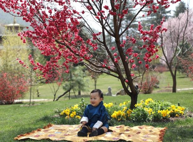 Khoe ảnh gia đình đẹp ngất ngây nhân dịp con trai út tròn 1 tuổi, Hoàng hậu Bhutan lại khiến vạn người mê đắm bởi nhan sắc lên hương - Ảnh 6.