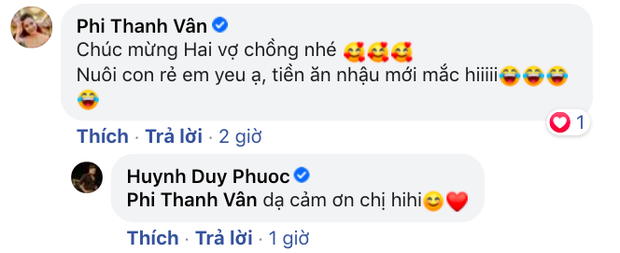 Con trai Lê Giang thông báo bà xã hơn 8 tuổi mang thai con đầu lòng, Ưng Hoàng Phúc và loạt sao Vbiz nô nức chúc mừng - Ảnh 4.