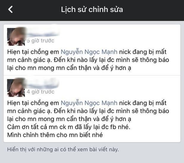 Facebook của Super Mạnh đã quay trở lại sau hơn 1 tiếng đồng hồ bị hacker chiếm đoạt - Ảnh 4.
