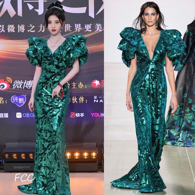 Loạt sao sửa váy tại Đêm Hội Weibo, tiếc thay cho Angela Baby bị chê kém sang hơn bản gốc vì không đeo thắt lưng - Ảnh 1.