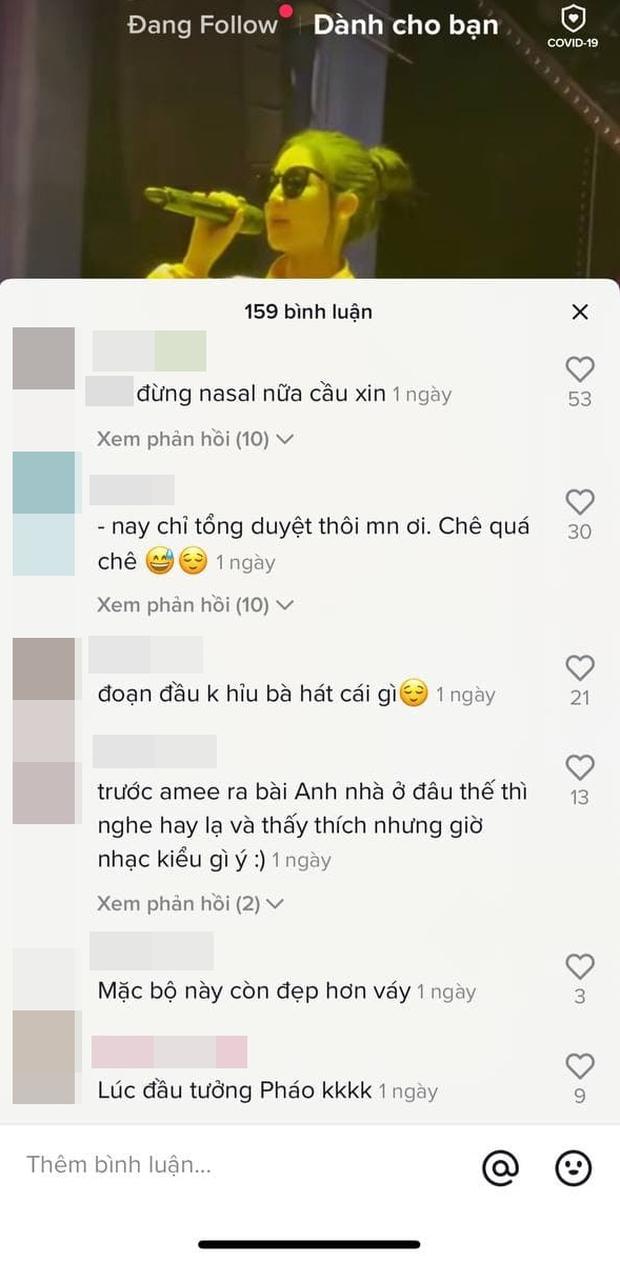 AMEE tiếp tục gây tranh cãi khi hát chênh phô tại buổi tổng duyệt, netizen than thở: Thà nghe hát đè còn hơn - Ảnh 3.