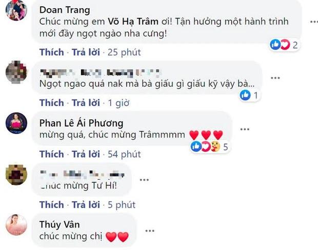 Võ Hạ Trâm khoe bụng bầu xác nhận mang thai con đầu lòng với chồng người Ấn Độ, Đoan Trang và dàn sao nô nức chúc mừng - Ảnh 5.