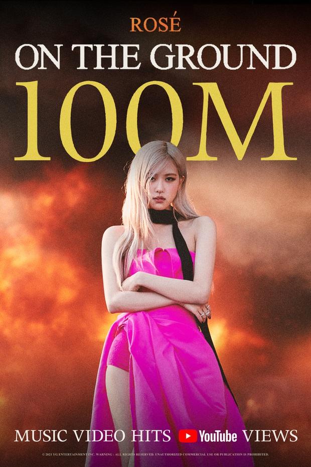 MV On The Ground chớp mắt đã đạt 100 triệu views, Rosé đánh bại Jennie để lập kỷ lục mới cho nữ idol solo Kpop - Ảnh 1.