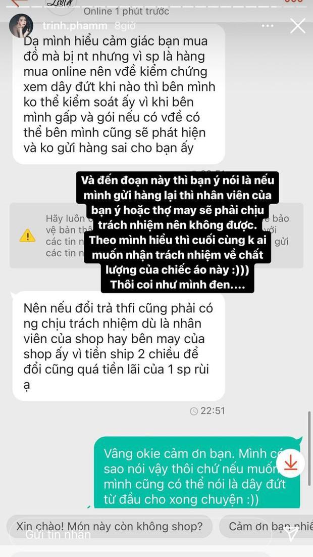 Trinh Phạm dính đạn khi mua hàng online: 200k cho chiếc áo 2 dây, vừa cầm lên đã bên đứt bên còn - Ảnh 5.