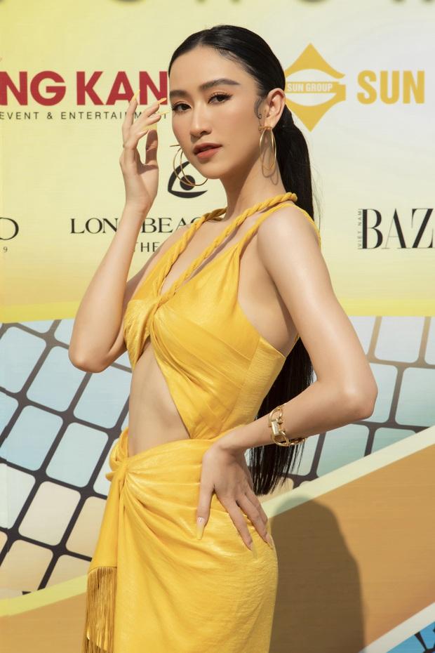 Ngọc Trinh lộ vòng 3 căng đét, dàn Hoa hậu Á hậu cũng thi nhau khoe ngực ỡm ờ trên thảm đỏ Fashion Voyage - Ảnh 16.