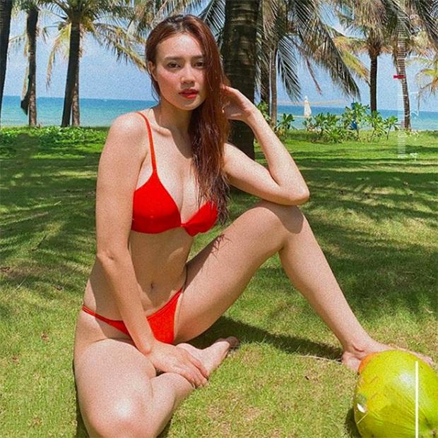 Các chị em xê ra, Ninh Dương Lan Ngọc cũng đăng ảnh bikini khoe vòng 1 gợi cảm, chân thì dài còn eo 54cm nhỏ xíu rồi đây này! - Ảnh 5.