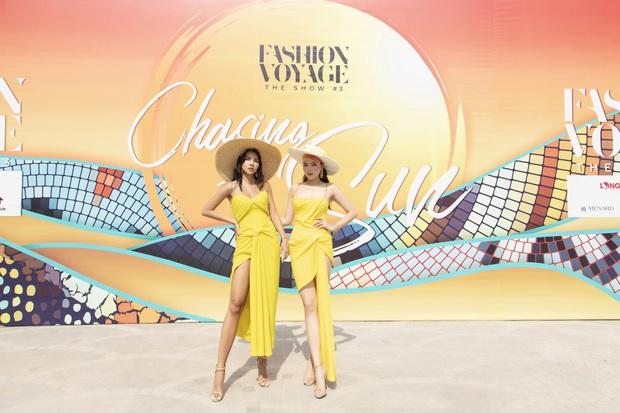 Ngọc Trinh lộ vòng 3 căng đét, dàn Hoa hậu Á hậu cũng thi nhau khoe ngực ỡm ờ trên thảm đỏ Fashion Voyage - Ảnh 7.