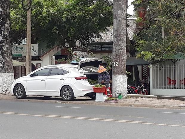 Bà chủ hàng trái cây dạo cực gắt, lái ô tô nhưng bình thản mở cốp xe bày hàng trên vỉa hè ngồi bán - Ảnh 2.