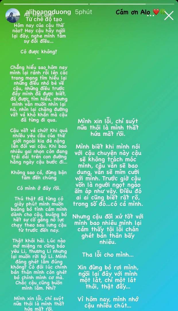 Sau drama hội bạn, Ali Hoàng Dương viết tâm thư và nhắn nhủ ai đó giữa đêm: Tha lỗi cho mình, xin đừng bỏ rơi mình? - Ảnh 2.