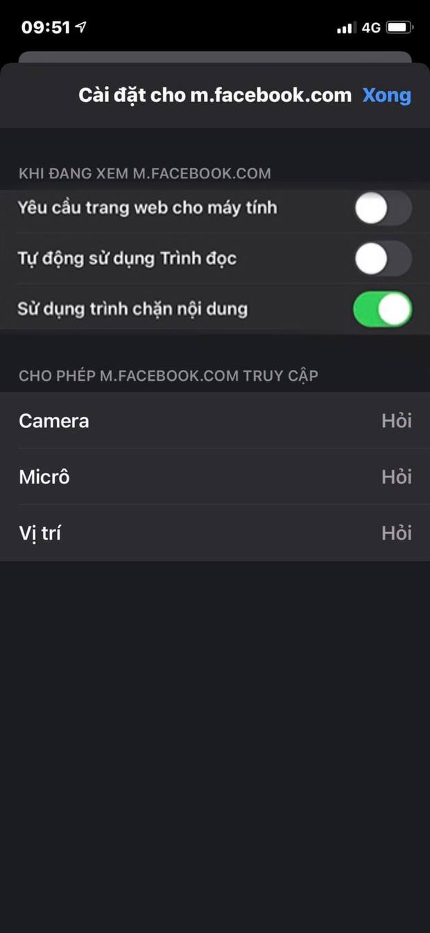 Đây là cách kiểm soát quyền theo dõi qua camera, micro khi truy cập vào các trang web trên iPhone - Ảnh 2.