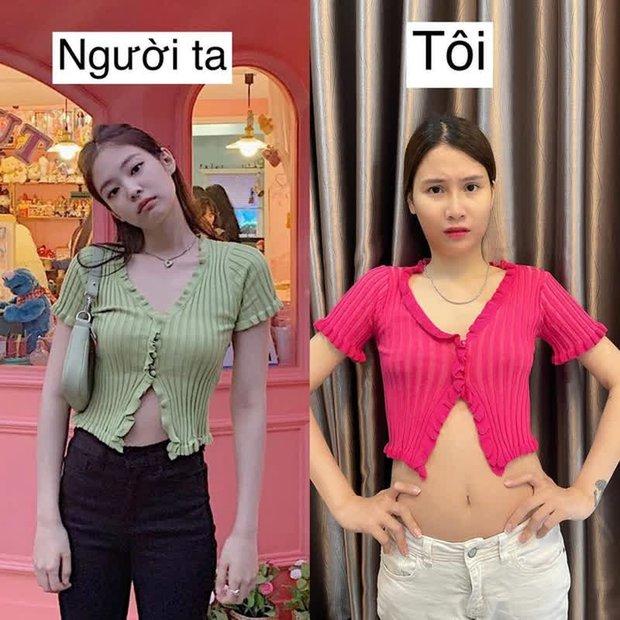 Đu trend áo Jennie, cô nàng này ghi danh vào list mua hàng online nhận ngay kết đắng - Ảnh 3.
