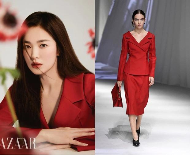 Triệu Vy lại bị Song Hye Kyo lấn lướt khi đụng nguyên cả cây hàng hiệu, từ nhan sắc đến vóc dáng đều gây thất vọng - Ảnh 7.