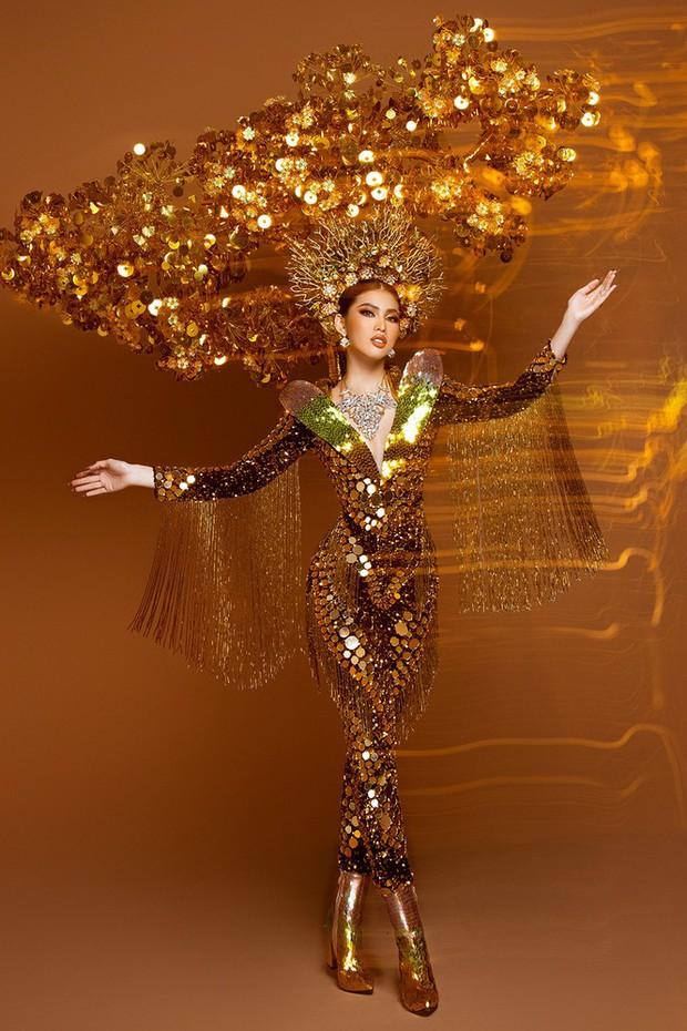 Ngọc Thảo hé lộ Quốc phục trọng lượng gây choáng tại Miss Grand 2020: Nặng gần 30kg, lộng lẫy như phượng hoàng! - Ảnh 5.
