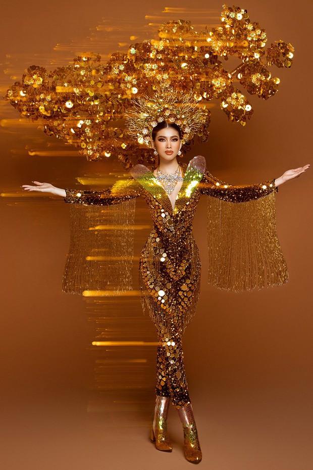 Ngọc Thảo hé lộ Quốc phục trọng lượng gây choáng tại Miss Grand 2020: Nặng gần 30kg, lộng lẫy như phượng hoàng! - Ảnh 4.