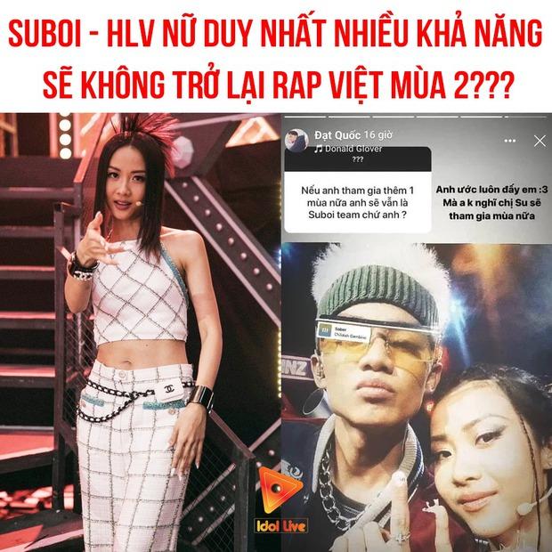 Netizen gọi tên nữ rapper ngang sức ngang tài, nghe tên xong ai cũng gật gù nếu Suboi không làm HLV Rap Việt mùa 2 - Ảnh 1.