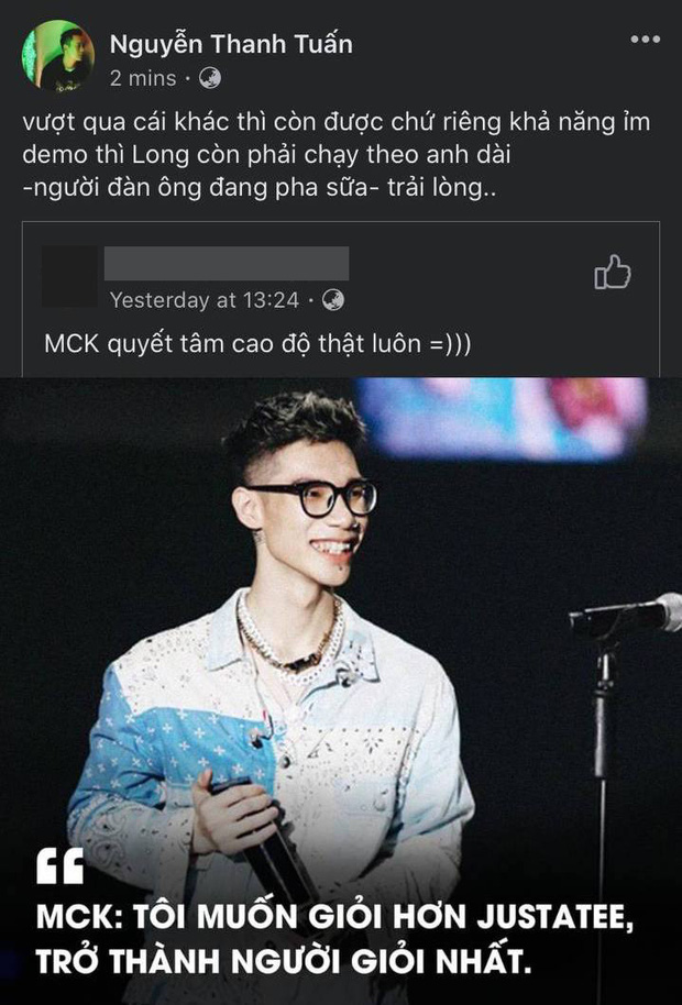 MCK rủ rê JustaTee lao vào cuộc chiến đọ xem ai ủ demo lâu hơn, giám khảo Rap Việt phán một câu nghe chán chả muốn chờ - Ảnh 2.