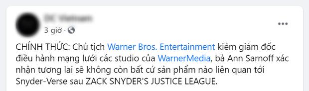 Khán giả phẫn nộ vì Chủ tịch Warner Bros. kiên quyết từ bỏ Zack Snyder khỏi vũ trụ DC, nhưng thực hư thế nào? - Ảnh 2.