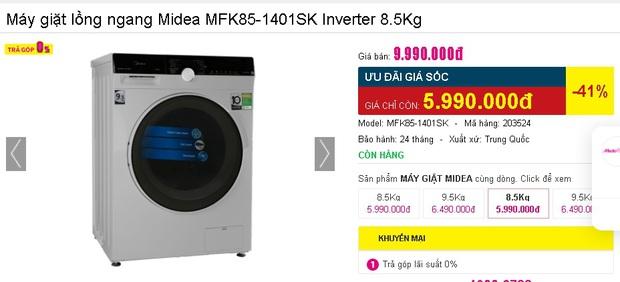 Nhiều máy giặt, máy sấy đang được sale mạnh, mua ngay tiết kiệm được bạc triệu - Ảnh 3.