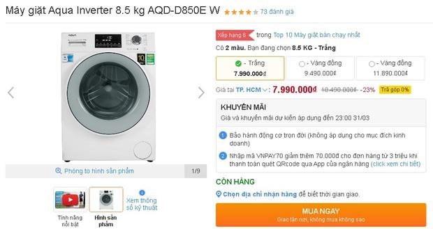 Nhiều máy giặt, máy sấy đang được sale mạnh, mua ngay tiết kiệm được bạc triệu - Ảnh 7.